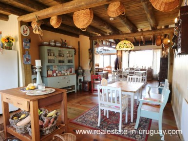 Dining Area of Farm House in El Quijote near Fasano and La Barra