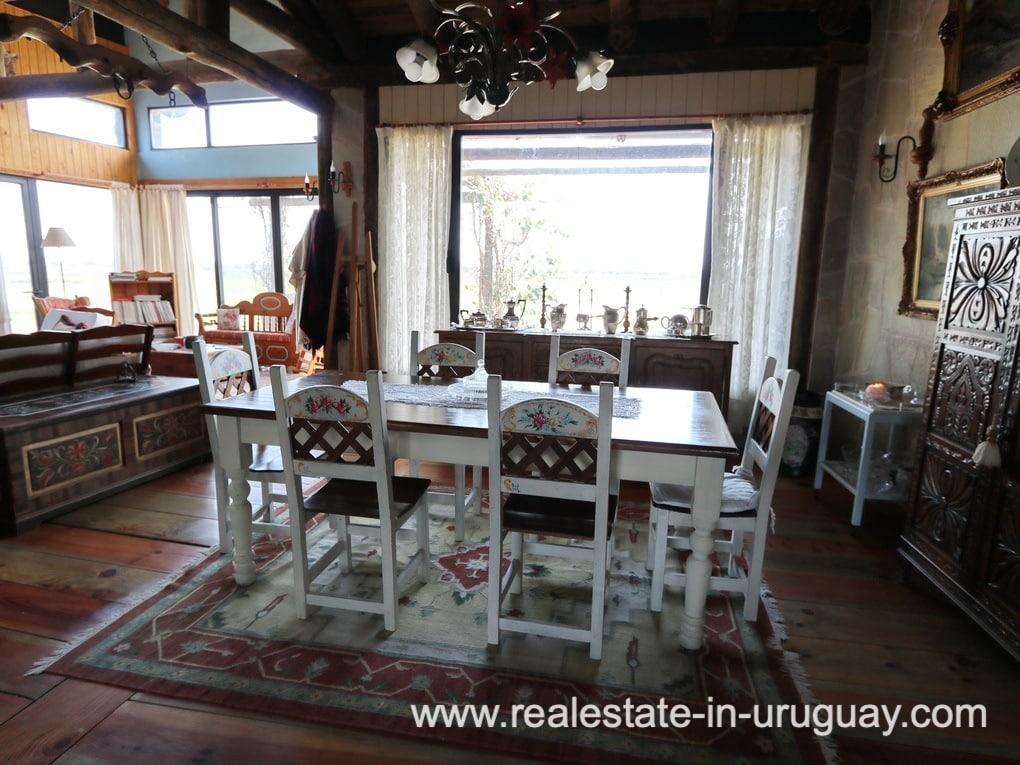 Dining Room of Farm House in El Quijote near Fasano and La Barra