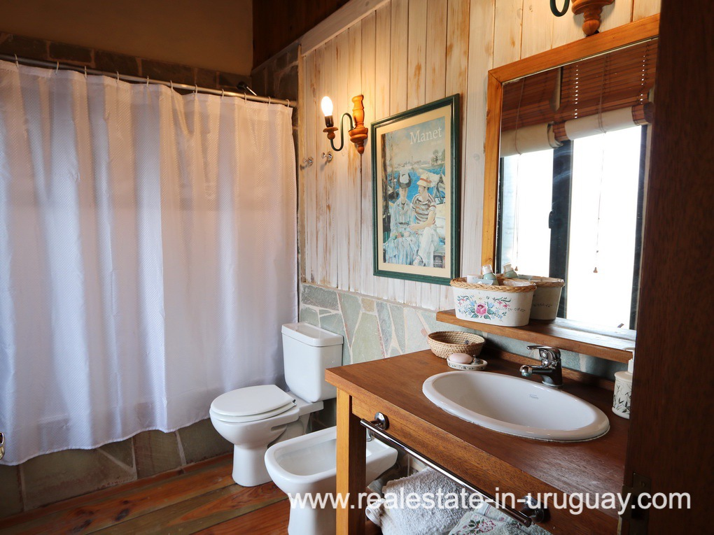 Guest Bathroom of Farm House in El Quijote near Fasano and La Barra