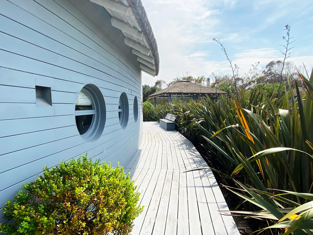 House side of Mario Connio House on the Lagoon near Jose Ignacio