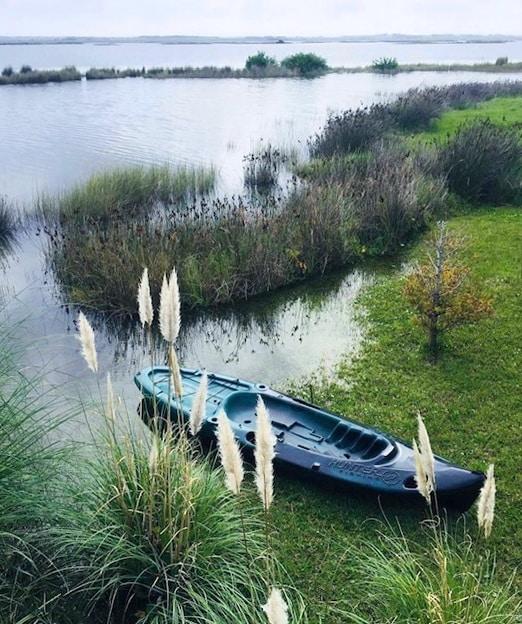 Boat of Mario Connio House on the Lagoon near Jose Ignacio