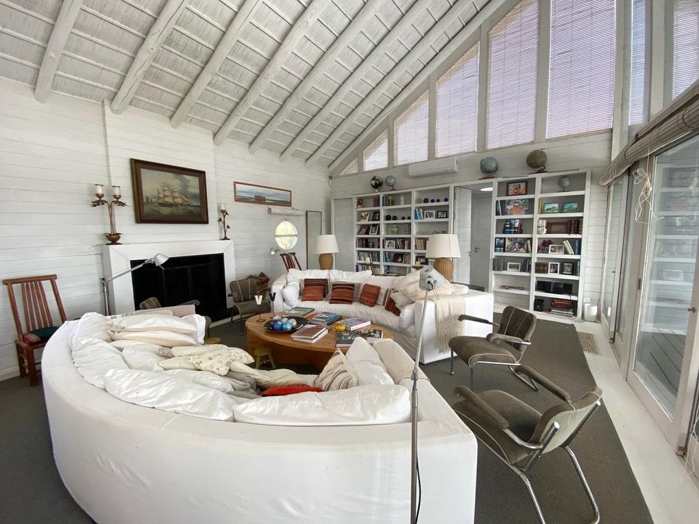 Living Area of Mario Connio House on the Lagoon near Jose Ignacio