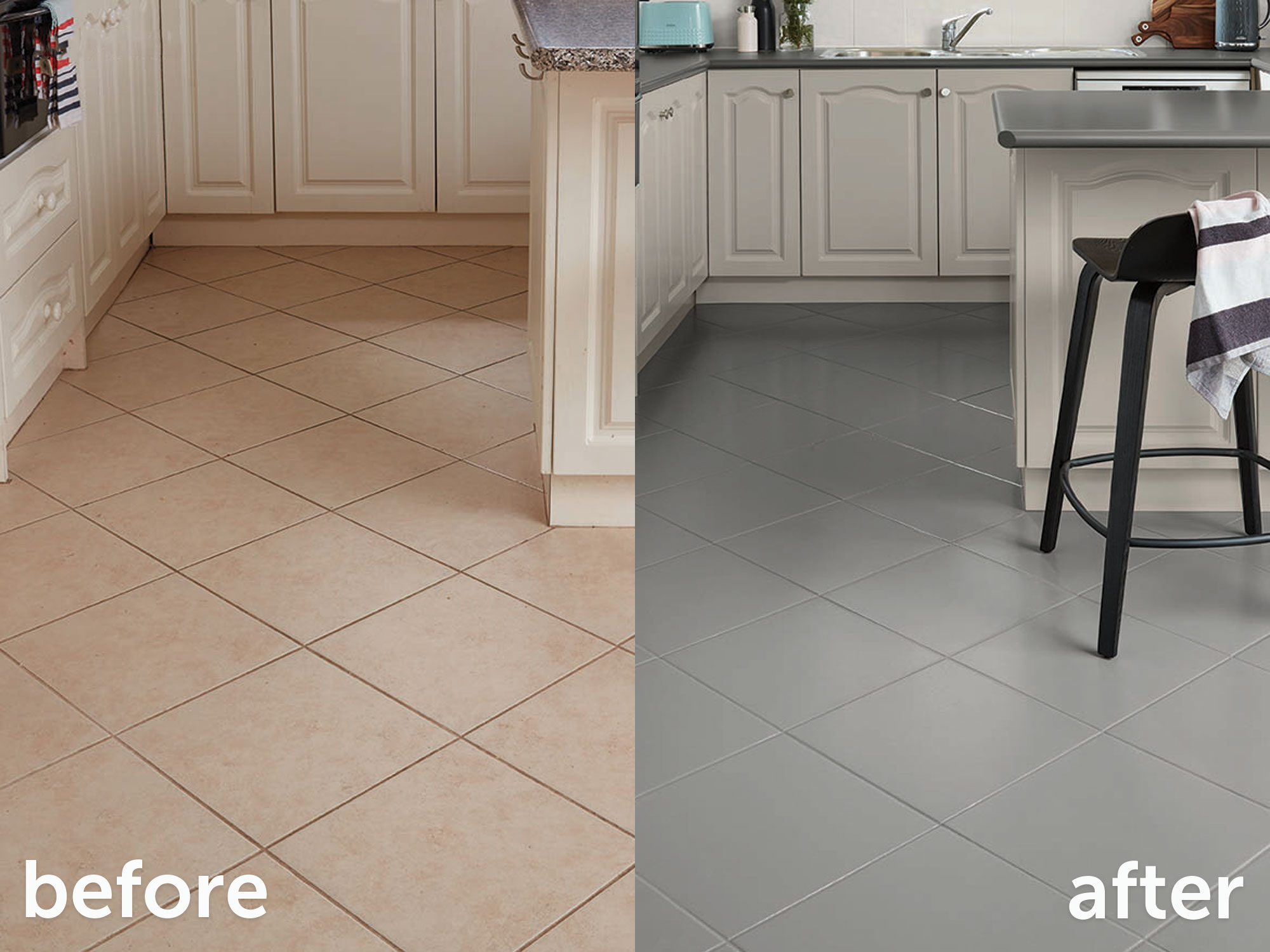how to paint floor tiles in 6 steps