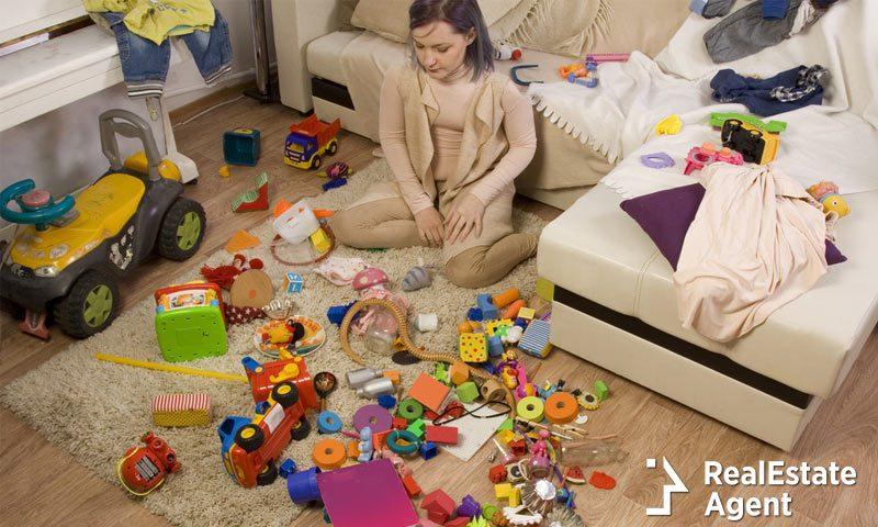 very messy kids room