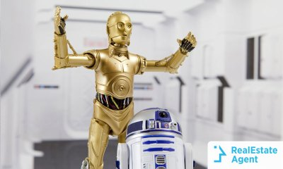 C3PO and R2D2 smart home devices from star wars
