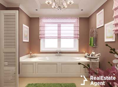 beautiful pink bathroom interior design