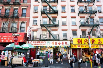 busy Chinatown street