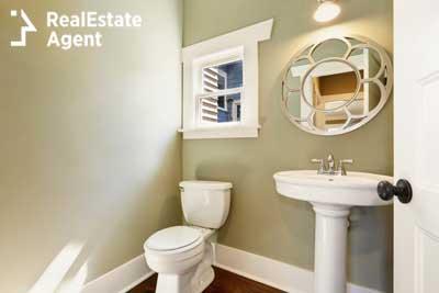 very quit new half bathroom