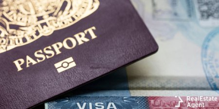electronic passport and the USA visa page from the passport