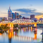 beautiful view of the city of Nashville Tennessee