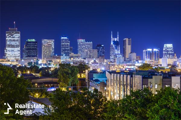 beautifull night view of Nashville TN