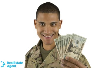 veteran soldier with money in hand