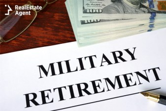 military retirement written on a paper