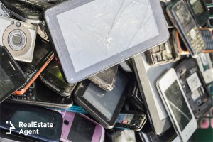 Discarded electronics