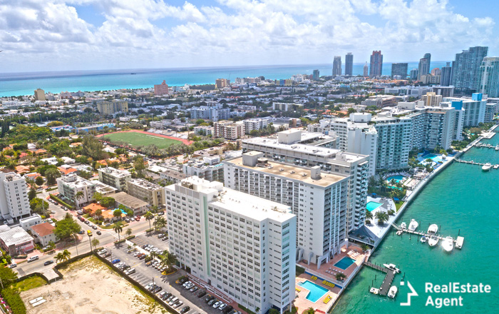aerial view of condos in boca raton