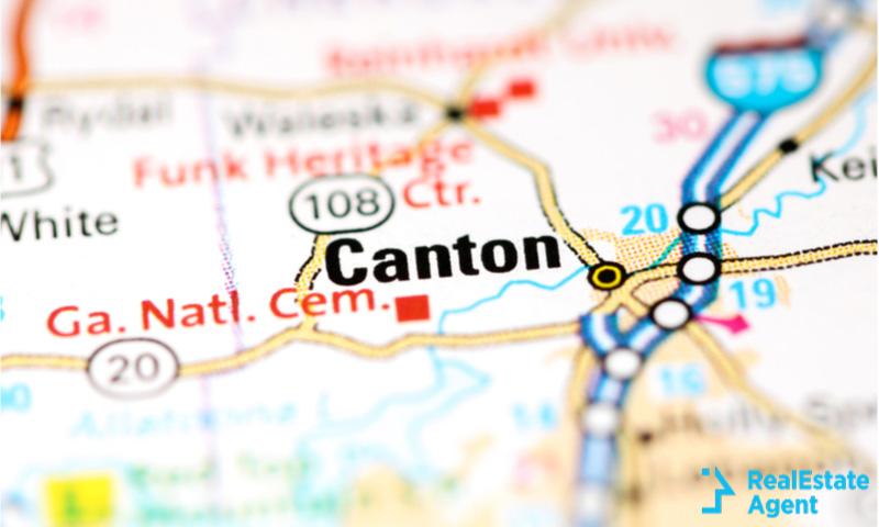 canton georgia map