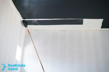 painting the ceiling with black paint