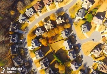 alphareta ga aerial view of subdivision