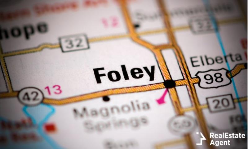 foley alabama us map