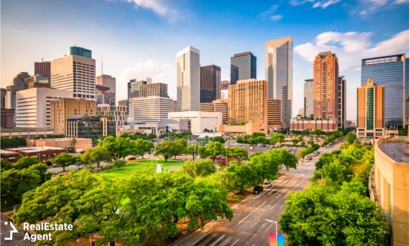 houston texas downtown view