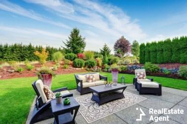 impressive backyard landscape