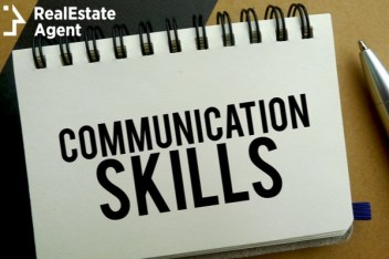 communication skills written on a notebook