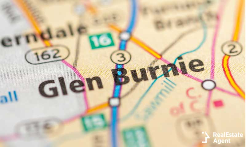 Map of Glen Burnie MD