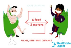 new social distancing infographic