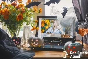 illustration of virtual halloween during quarantine