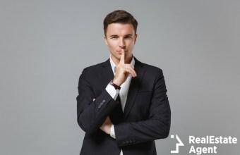 secret young business man