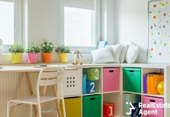 modern universal unisex kids view of room design