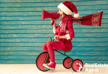 happy child riding bike