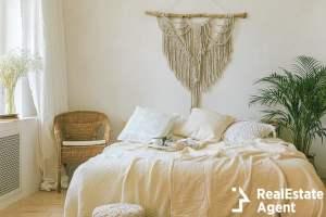 modern romantic boho style bedroom