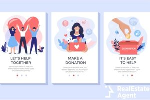 donation and volunteers concept