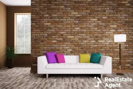 modern interior white sofa