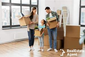 mortgage family and real estate concept