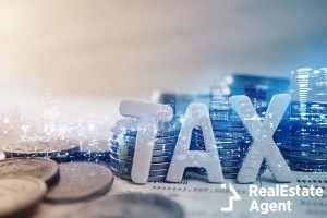 tax wooden text