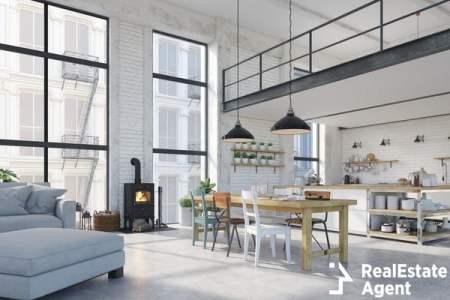3d rendering loft apartment
