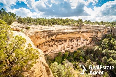 Cliff dwellings in Mesa Verde National Park Colorado