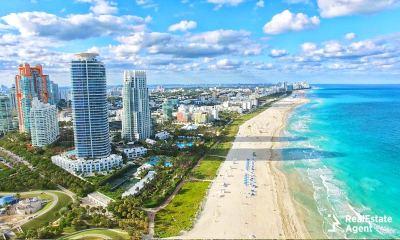 Miami beach aerial view