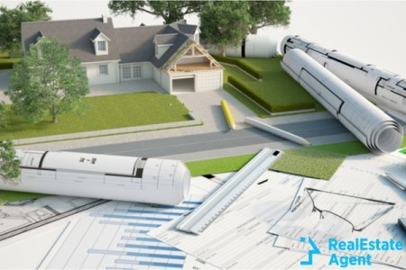 3d rendering of a house architectural landscape