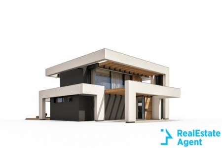3d rendering of a modern cozy house