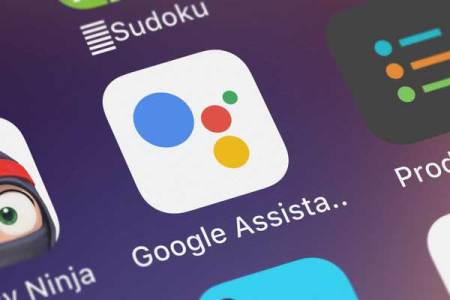 screenshot of a mobile app of google assistant