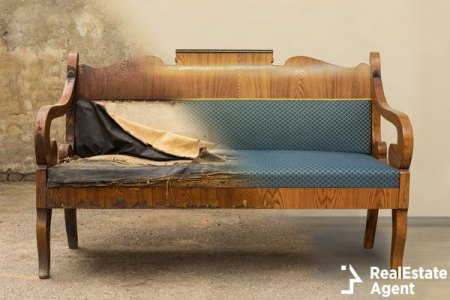 Antique Biedermeier style sofa