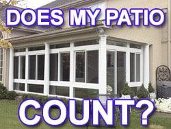 do enclosed patios add living area