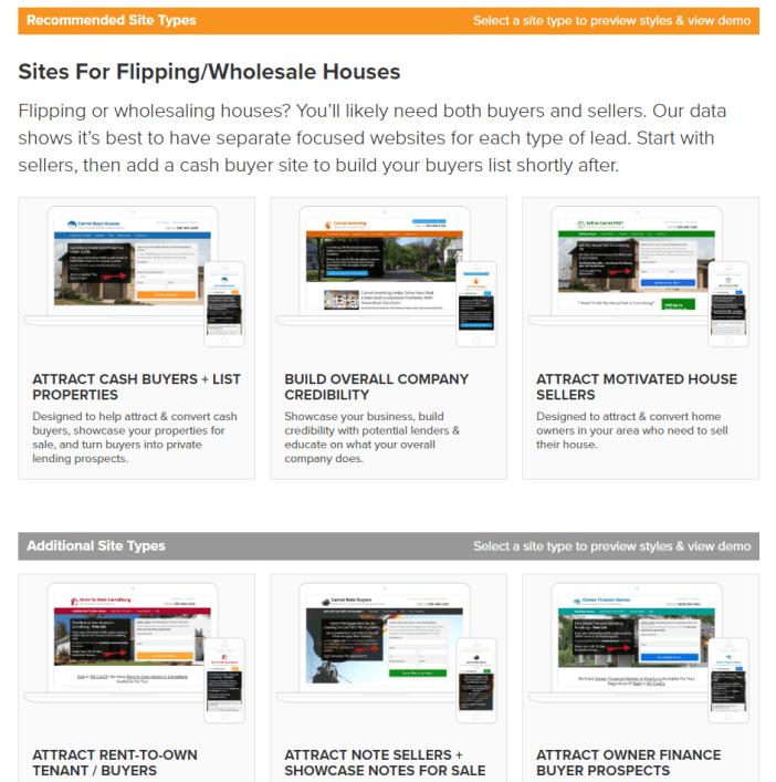 wholesaling website setup 1