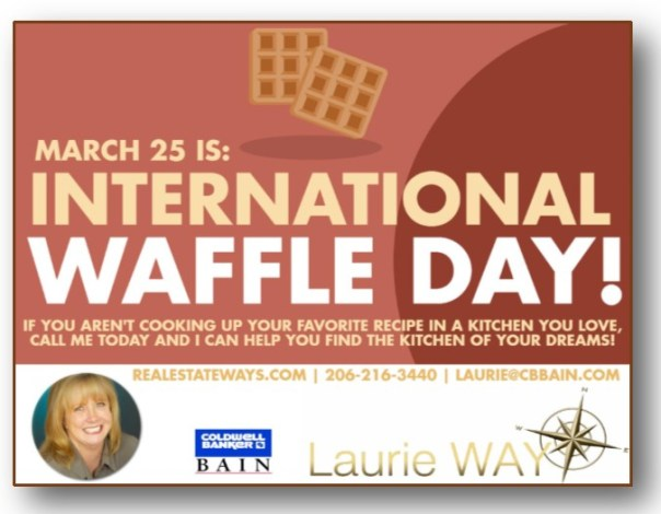 WAFFLES MARCH 25TH IS INTERNATIONAL WAFFLE DAY!