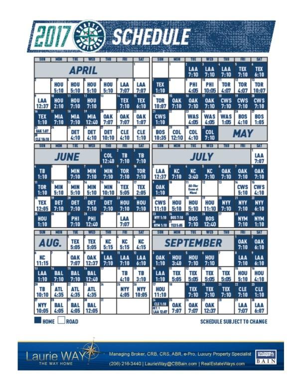2017-Mariners-Schedule 2017 Mariners Schedule!