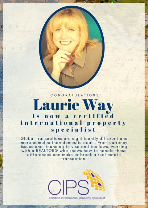 cips Laurie Way is now a Certified International Property Specialist!