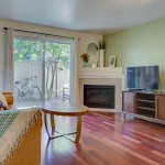 living-fireplace LAURIE WAY ANNOUNCES | Queen Anne Condo with Rooftop Deck